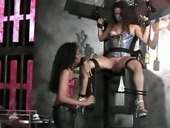 Girl tortured by lesbian mistress